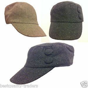 stylish cadet cap hat with front buttons
