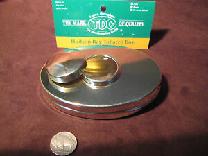 Ted-Cash-Hudson-Bay-Tobacco-Box-SOLID-BRASS-Tinder-Box-MADE-IN-USA