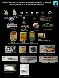 CHRYSLER / DaimlerChrysler Anstecknadeln + Pins 1960er bis 2000er J. AUSSUCHEN