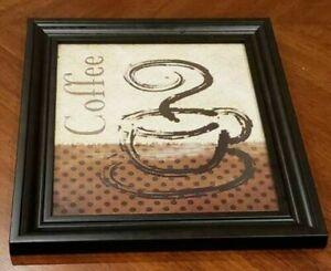 Coffee Kitchen Picture Wall Art Decor W13 5 X W11 5 Ebay