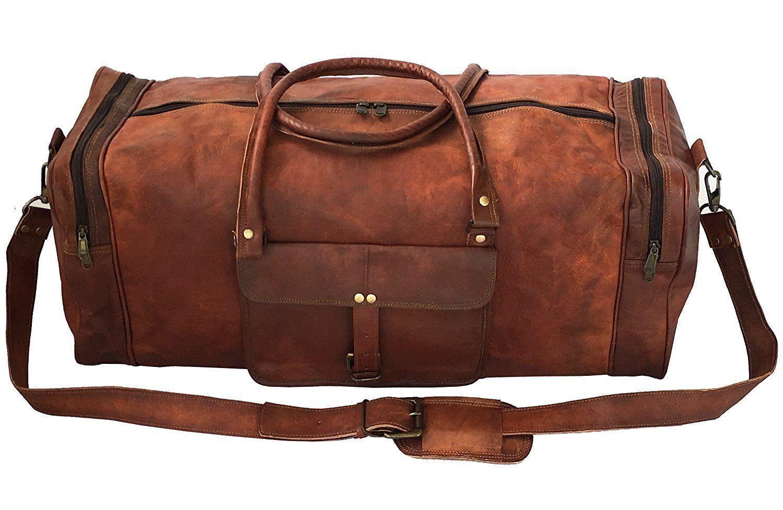 Herren echte braun Leder Retro Vintage große Vintage Reisetasche Sporttasche | Wirtschaftlich und praktisch