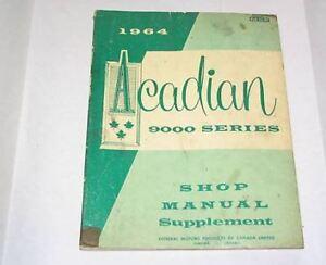 64-Pontiac-Acadian-9000-Series-Shop-Manual-Supplement-USED-1964