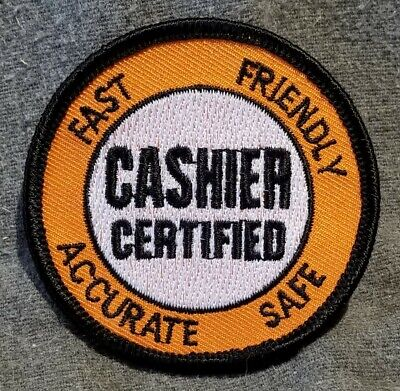 LMH PATCH Badge  HOME DEPOT Award  CERTIFIED CASHIER  Accurate Qualified Skilled