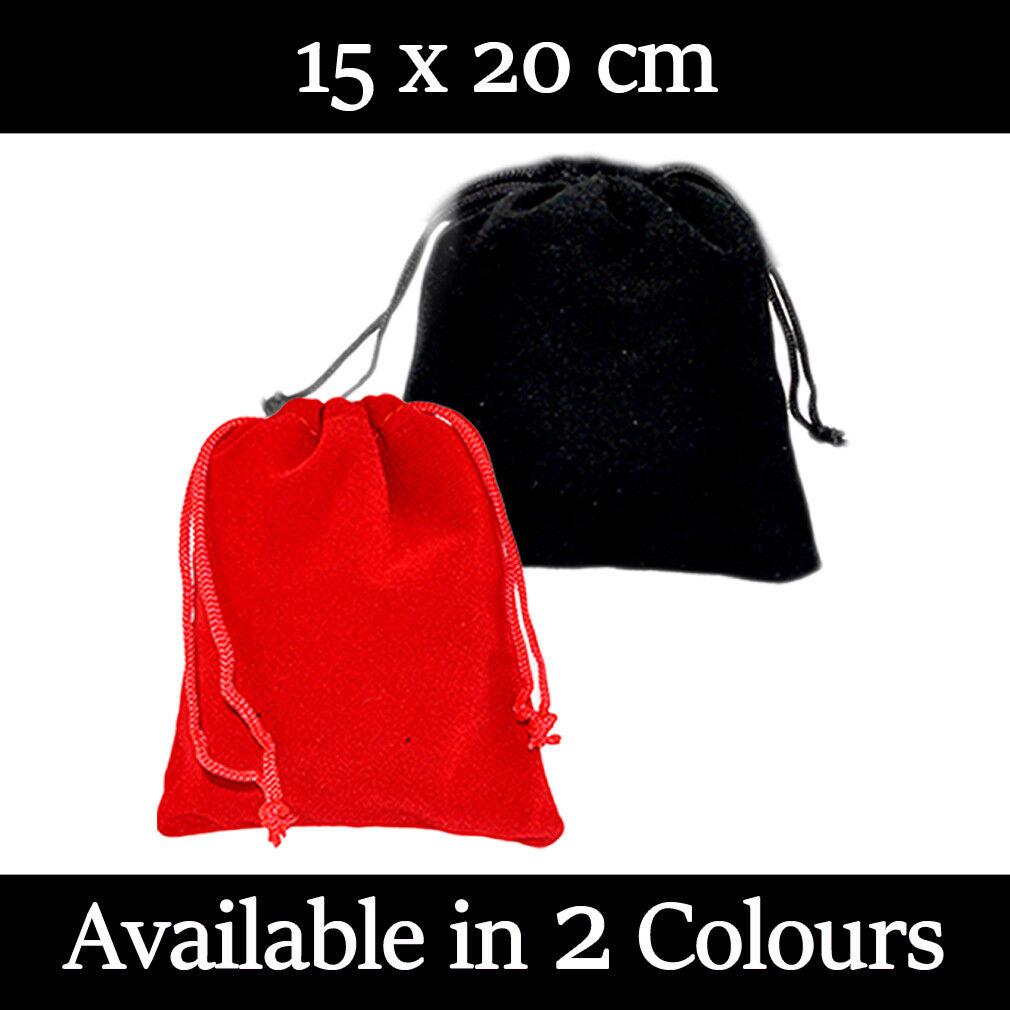 15 x 20 cm velours cadeau pochettes mariage faveur Sacs Bijoux étui Dans 2 Couleurs