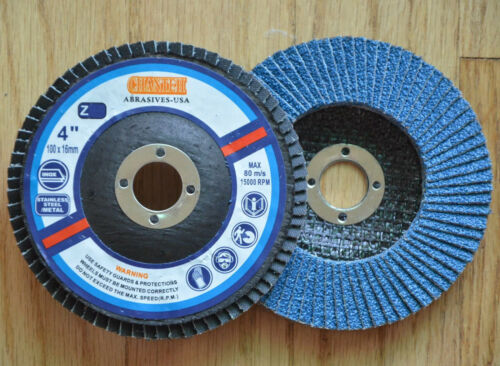 "20 4/"" inch x 5//8/"" Zirconia Flap Disc 120g Stainless Steel /& Metal Grinding Wheel"