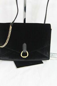 ec61316675 Image is loading Ralph-Lauren-Bennington-Envelope-Velvet-Small-Crossbody- Handbag-