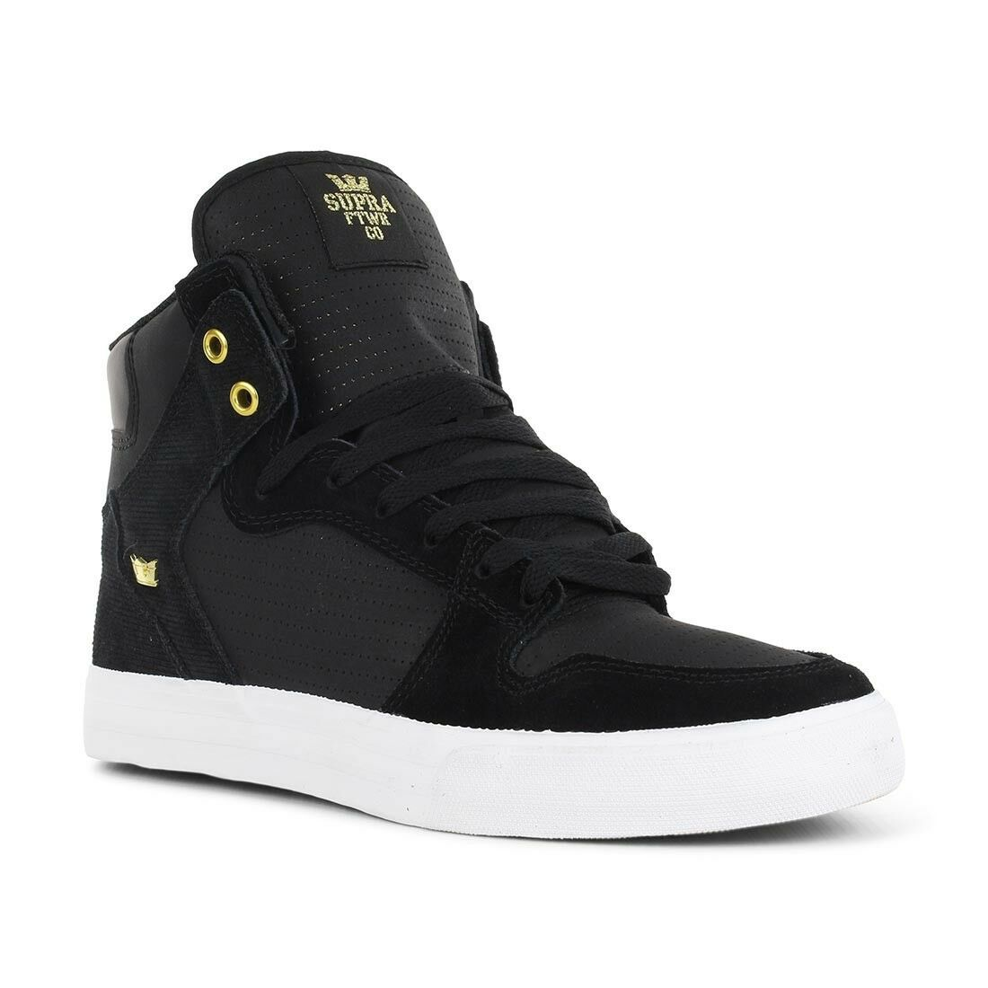 Supra Shoes Vaider High Top - Black Gold