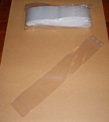 100 BUSTINA SACCHETTO 40 x 230 lungo di forma oblunga pressione chiusura a sacchetto ZIP cartocci