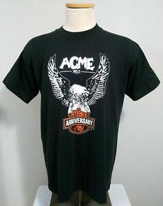 ACME Motorcycle Club Men's Vintage T Shirt Large M.C. Fifteenth Anniversary