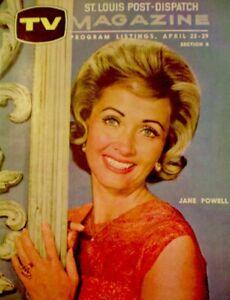 TV-Guide-1961-Jane-Powell-Regional-TV-Magazine-St-Louis-Dispatch-Vintage-EX-COA