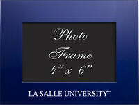 La Salle University - 4x6 Brushed Metal Picture Frame - Blue