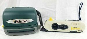 Lot Of 2 Polaroid OneStep Express 600 Camera & Polaroid i-Zone Pocket Camera!!!
