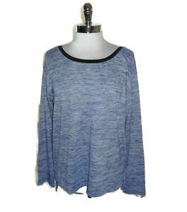 NEW CALVIN KLEIN Size L Shirt Top Blue Stretch Long Sleeve