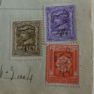 Repubblica Sociale RSI 1944 marca  su ricevuta  2  lire 50+30 cent
