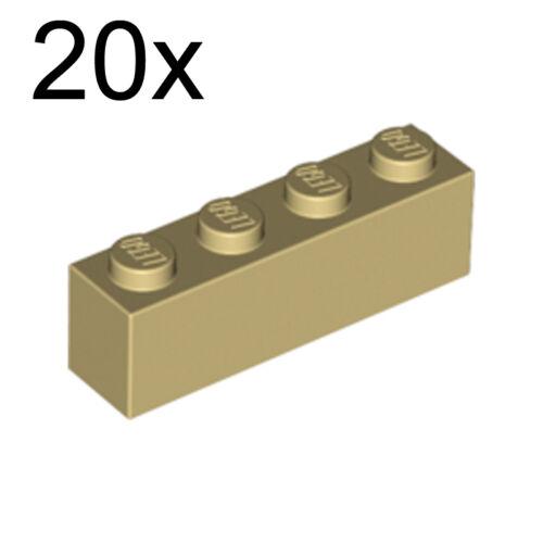 LEGO 20x Tan Brick 1 x 4 4113916 3010