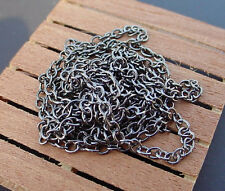 Metal Hobby Chain 3 Feet Blackened Link 1/16 Inch Perfect Multi Scale Accessory