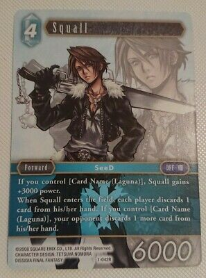 Squall Hero Foil Near Mint Opus VIII Collection 8-035H