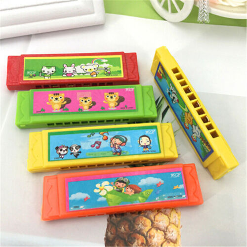 Kids Cartoon Plastic Harmonica Toy Fun Musical Early Educational Gift Toy Hot