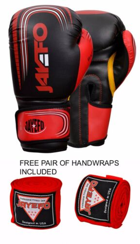 BOXING GLOVES PUNCHING BAG SPARRING GLOVES MUAY THAI KICK BOXING MMA JFO US
