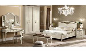 Détails sur Classique Chambre Bois Massif holzfurnier Beige Italien Style  meubles- afficher le titre d\'origine
