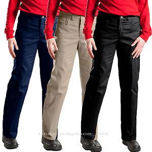 Elegant Black  Dickies Women39s Premium Flat Front Pants  FP221BK