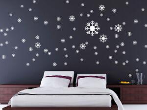 Wandtattoo Weihnachten Schneeflocken-Set #W006 Wandaufkleber ...