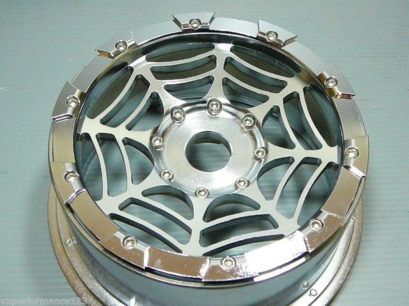 2X Front SPIDER'S SPIDER'S SPIDER'S CNC Alloy Wheel Rims HPI Baja 5B Tires KM Rovan de273f
