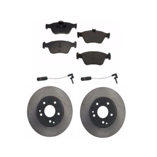 Mercedes Benz Front Brakes Disc Rotors with Sensors Brake Pad Set Kit