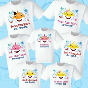 44c1932fd Baby Shark T Shirts Party Family Birthday Son Dad Sister Mom Reunion ...