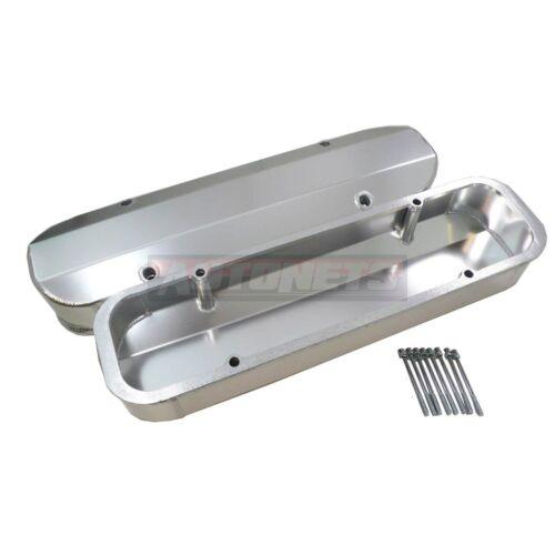 Pontiac Fabricated Aluminum Tall Valve Covers Billet Rail 389 350 400 455 HotRod