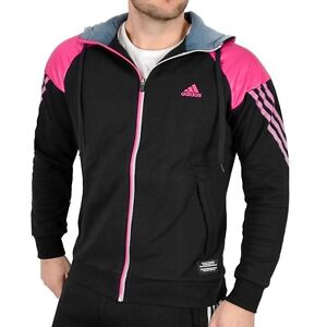 Details about Adidas Mens Sweat Jacket Hooded Jacket Hoodie Track Jacket Warm BlackPink show original title