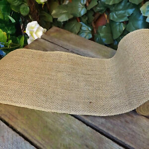 Extra-Wide-15cm-Natural-Hessian-Jute-Ribbon-Wedding-Bouquet-Trim-Crafts-1-mt