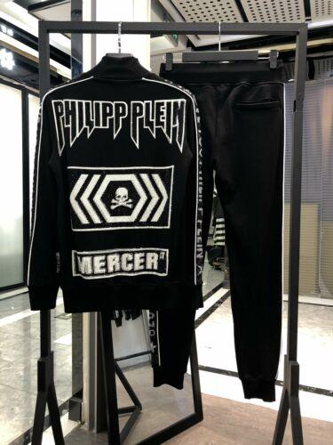 Philipp Plein Men Sweatshirt Tops Crystals Embellished Sport Trousers