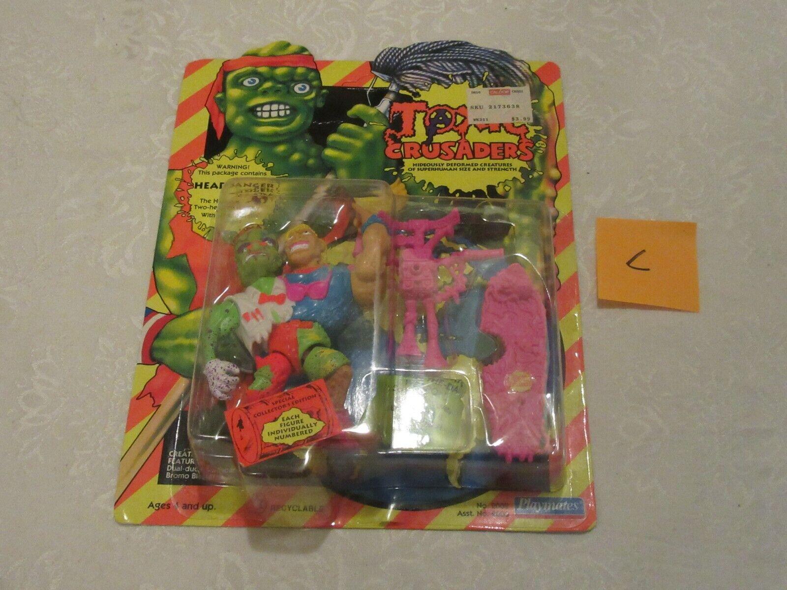 Playmates Toxic  Crusaders Headbanger  2002 1991 Unpunched C azione cifra  economico in alta qualità