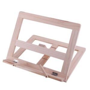 Adjustable Wooden Book Stand Cook Book Display Folding Holder 25