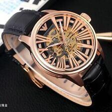 NEW Emporio Armani Men's AR4629 Meccanico Black Skeleton Dial Watch