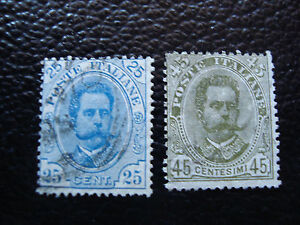 Italy-Stamp-Yvert-and-Tellier-N-61-62-Obl-A11-Stamp-Italy-Y
