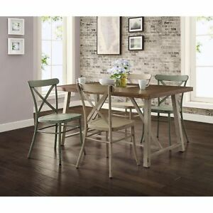 Rustic Dining Table Farmhouse Modern Country Kitchen Wood Distressed