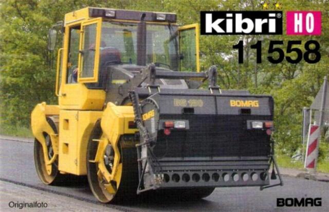 Kibri 11558 H0 - BOMAG mit Splittstreuer BS 18 NEU & OvP