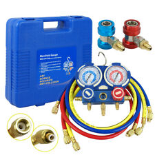 Hvac Ac Air Refrigeration Kit Ac Manifold Gauge Set Brass R134a R410a R22