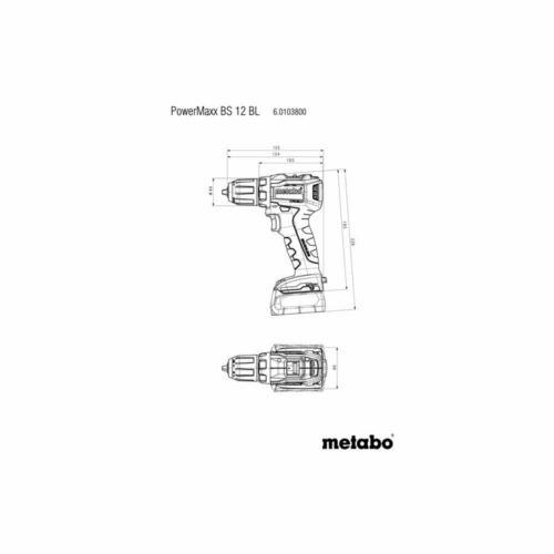 Metabo  12V Akku Bohrschrauber POWERMAXX BS 12 BL2x Akku 2,0 Ah