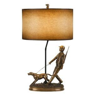 Cal lighting hunter 305 height resin table lamp cast bronze bo image is loading cal lighting hunter 30 5 034 height resin aloadofball Gallery
