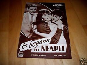 IFB 5649 Es begann in Neapel  SOPHIA LOREN