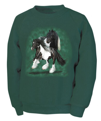 Designer enfants sweatshirt 116-152 tinker collection BOETZEL chevaux 08641