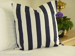 Pillow Cover Navy Blue Striped Throw Pillow For Chair Sofa