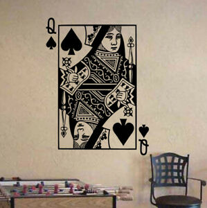 Vinyl Decal Wall Sticker Playing Cards Deck Ace of Spades Poker n687