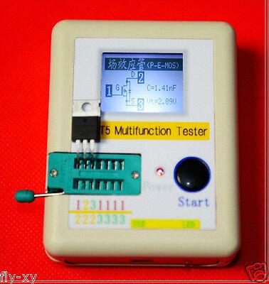 Transistor Tester Diode Triode Capacitance ESR Meter Mos + CASE + Li-ion battery