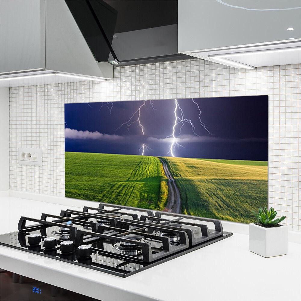 Crédence de cuisine cuisine cuisine en verre Panneau 120x60 Paysage ...