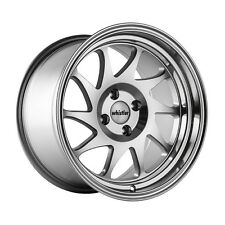 16x9 Whistler KR7 4x100 +15 Silver/Machined Face Wheels (Set of 4)