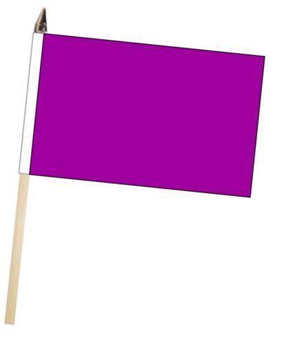 Purple Large Hand Waving Courtesy Flag